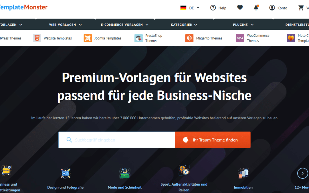 WordPress Themes von TemplateMonster die professionelle Lösung? -